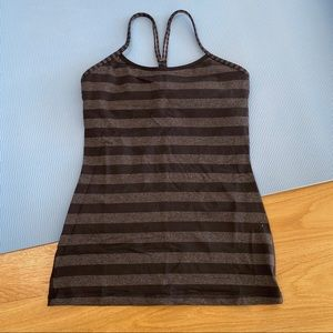 Black and Gray striped tank top